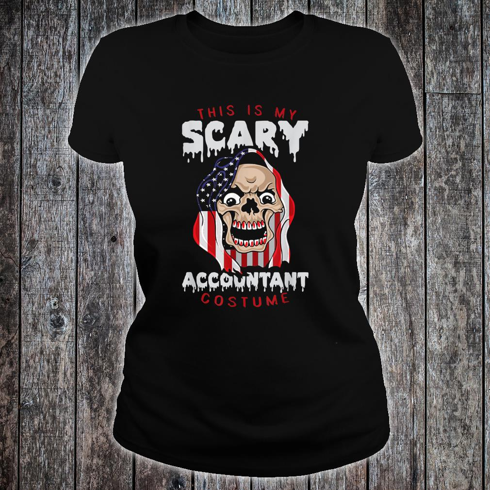 This Is My Scary Accountant Costume Halloween Shirt ladies tee