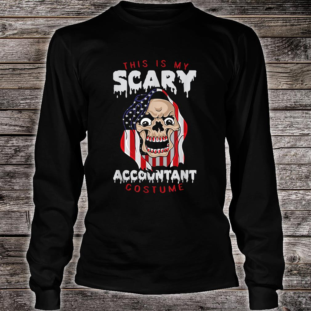 This Is My Scary Accountant Costume Halloween Shirt long sleeved