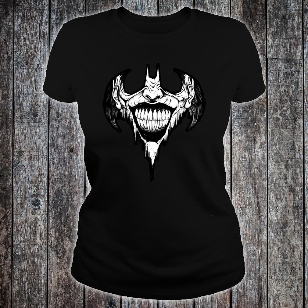 VILLAIN SMILE ACTION MOVIE CHARACTER AWESOME Shirt ladies tee