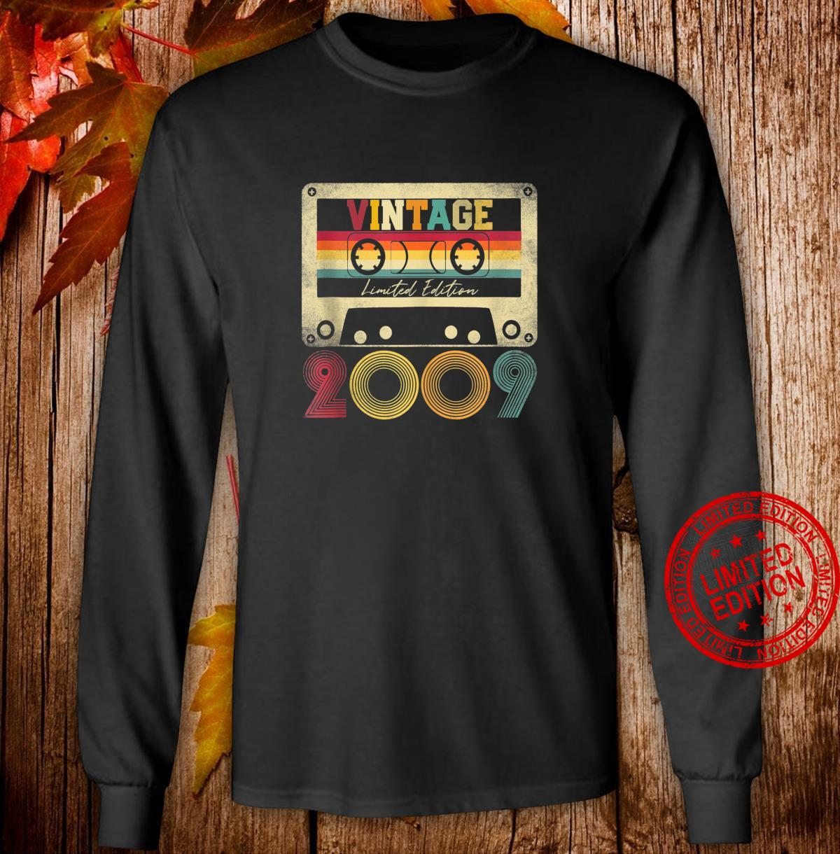 Vintage 2009 12th Birthday 12 Years Old Limited Edition Shirt long sleeved