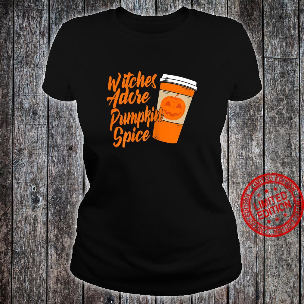 Womens Halloween Witch Adore Pumpkin Spice WAP Witches Shirt ladies tee