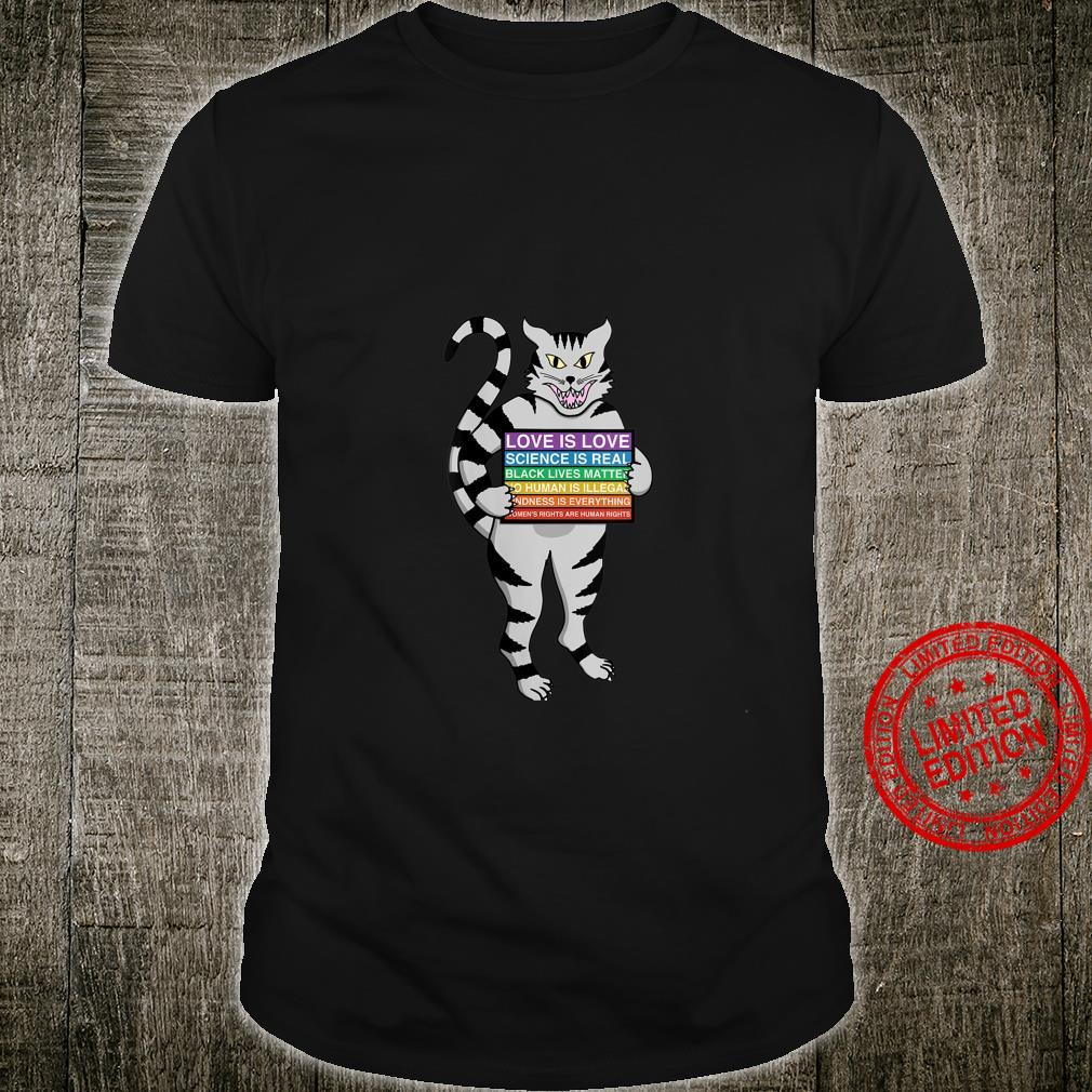 Womens Social Justice Cat Kitty Protest Equality Black Lives Shirt