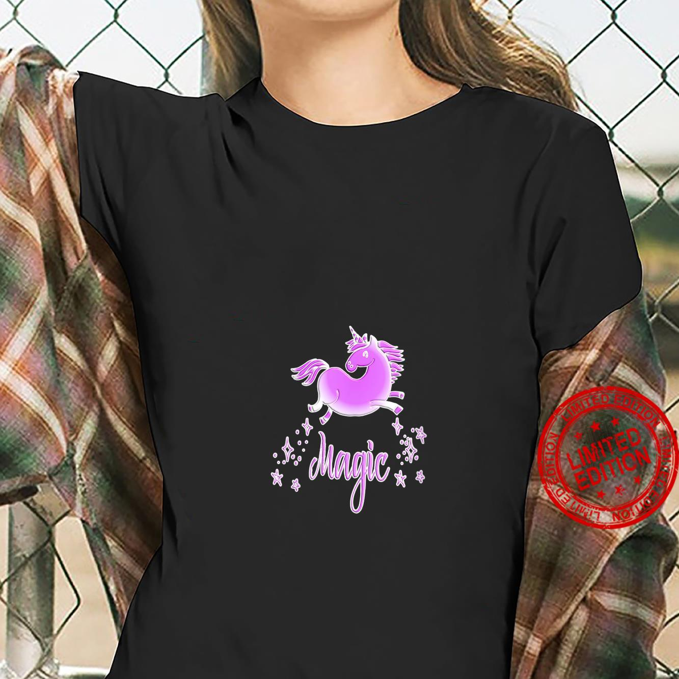 Womens Unicorn Magic Pink Shirt ladies tee