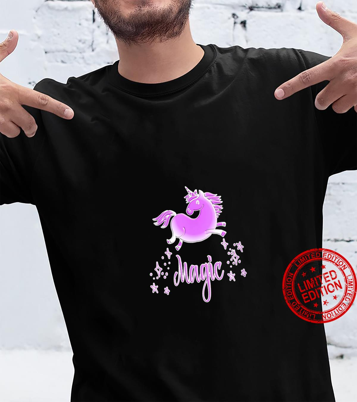 Womens Unicorn Magic Pink Shirt